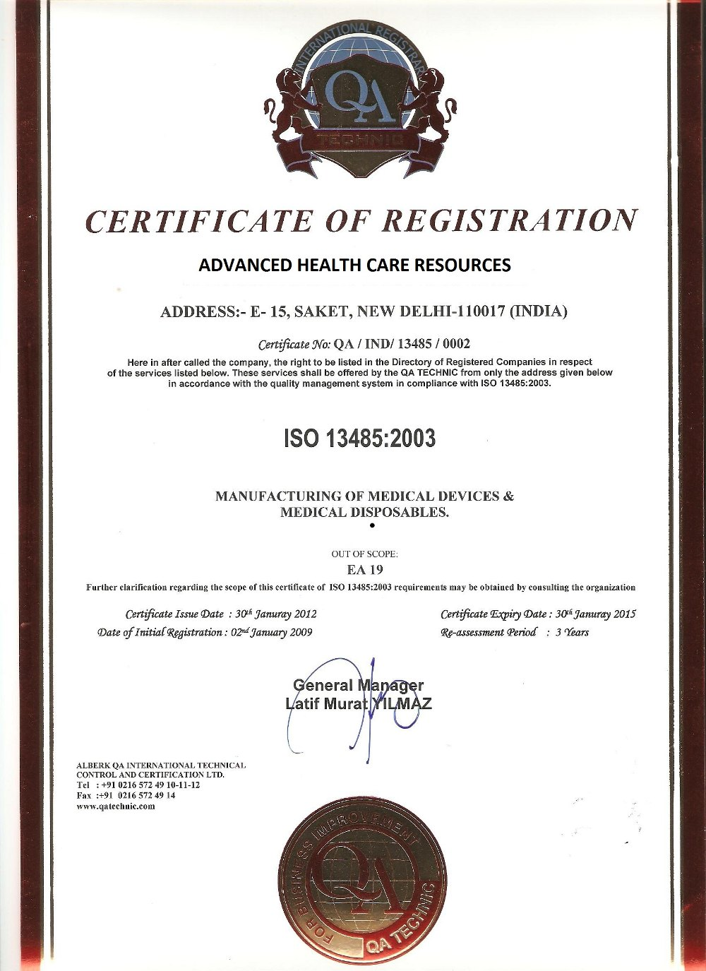 About us advanced health care resources delhi india certificate 1betcityfo Choice Image